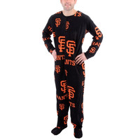 San Francisco Giants Ramble One-Piece ''Mansie'' Footie Pajama Suit - Black - http://www.shareasale.com/m-pr.cfm?merchantID=7124&userID=1042934&productID=555874511 / San Francisco Giants