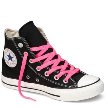 "Neon Pink High Top 54"" Shoelaces : Converse Shoe Laces 