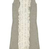 Red Valentino Knit-paneled silk and cotton-blend dress - 70% Off Now at THE OUTNET
