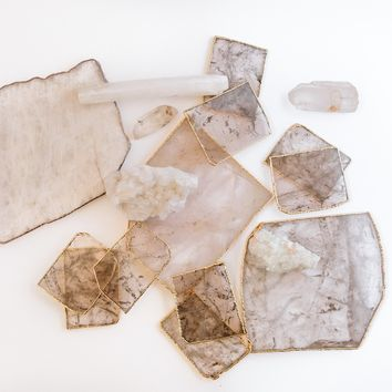 Rose Quartz Coasters & Cheese Boards