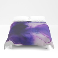 Violet Aura Duvet Cover by duckyb