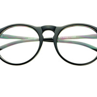Clear Lens Round Glasses Retro Style Matte Black R402 – FREYRS - Sunglasses at Affordable Prices