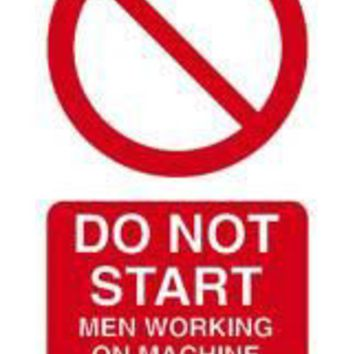 Tie tag, Do not start men working on machine - Pack of 10