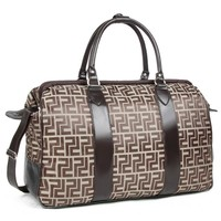 Fendi Zucca Logo Carry On Overnight Luggage Suitcase [Misc.]