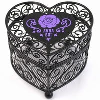 ★ SALE ★ Anna sui ANNA SUI international limited rose rose heart shaped magical basket / box black