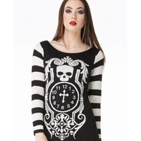 Jawbreaker Gothic Clock Sweater