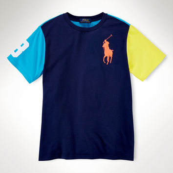 COLOR-BLOCKED COTTON TEE