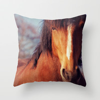 Horse  Throw Pillow by Claudia Drossert