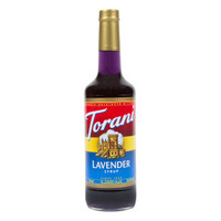 Torani Lavender Syrup 25.36 oz Glass Bottles - Pack of 1