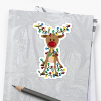 'Adorable Reindeer' Sticker by mightyawesome