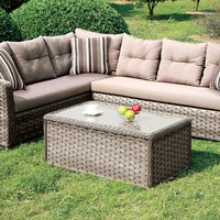 Nola Contemporary Style L-Shaped Outdoor Patio Sectional