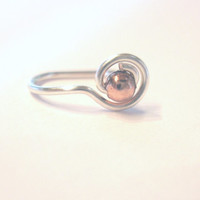 "No Piercing ""At Sign"" @ Nose Cuff /Ring 1 Cuff  - Gold Tone or Lots of Color Choices"