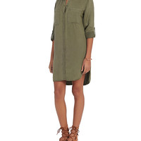 Rails EXCLUSIVE Karlie Army Shirt Dress at INTERMIX | Shop Now | Shop IntermixOnline.com
