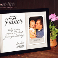 Gift for Father of the Bride Gift - Father Thank you Gift, Father of the Groom gift, Father of the Bride Frame,Father In Law Gift
