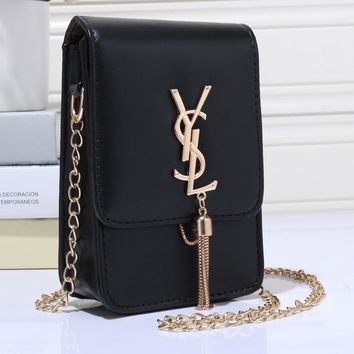 YSL Women Shopping Leather Metal Chain Crossbody Shoulder Bag Satchel-1