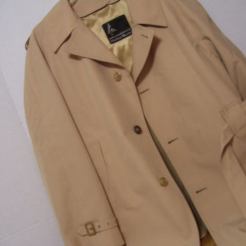 Men's Tall Man Trench Coat by Harbor Master with Tex-Pop  Zip Out Optional Warmer Lining