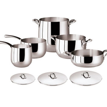 Kikka 8 Pcs Set - Stainless Steel