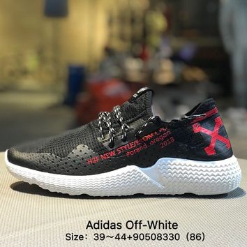 Adidas Off-White S31522 Classic Men Black White Causel Sport Shoes Sneaker
