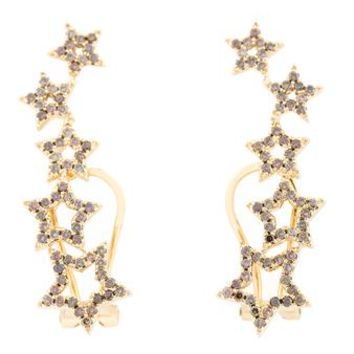 ROSA DE LA CRUZ | Yellow Gold & Diamond Star Earrings | Womenswear | Browns Fashion