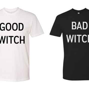 Bad Witch Good Witch BFF Halloween Tees