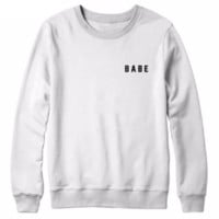 Women letter sweater BABE