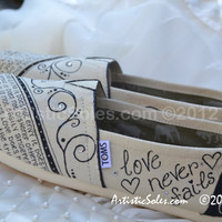 Custom Wedding TOMS by Artistic Soles