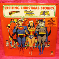 Amazing Peter Pan Record Exciting CHRISTMAS Stories Superman Wonder Woman Batman LP1977 Vinyl Record LP 33 Sealed