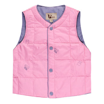 Baby Real White Duck Down Vest 3 to 12 Years Old Kids Winter Down Jacket Boys and Girls Keep Warm Light Weight Clothes Pink