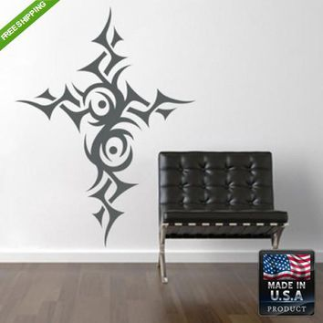 Wall Vinyl Decal Decal Sticker Beautiful Tribal Symbol Cross Decal  z106