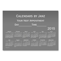 2015 Appointment Calendar by Janz Business Card