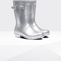 Women's Hunter 'Original Short' Rain Boot, Size 6 M - Grey
