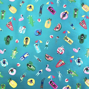 Bulk Ream Roll Any-Occassion Gift Wrap Wrapping Paper, Pool Party