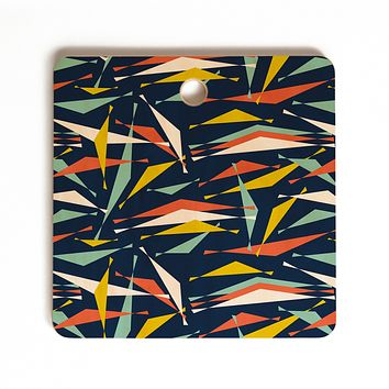 Heather Dutton Swizzlestick Party Girl Cutting Board Square