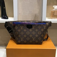 LV Louis Vuitton Woman Men Fashion Leather Waist Bag Single Shoulder Bag