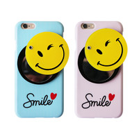 Smile Case Cover With Hidden Mirror For Iphone 7 Se 5S 6 6S Plus Case Cover