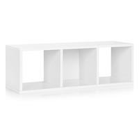 Way Basics BS-CB-1-WE Eco Friendly White Modular Storage Cozy Bench