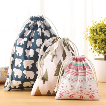 Elephant Pine Trees Drawstring Bags Cinch String Backpack Funny Funky Cute Novelty