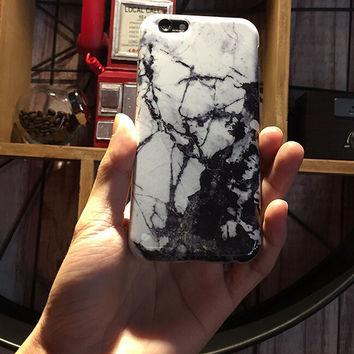 Black White Marble iPhone 6 6s Plus creative case Gift-132