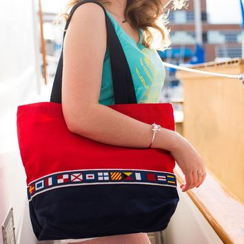 A-Z Nautical Code Flags / Tote Bag