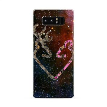 BROWNING STYLE HEART BUCK DOE DEER STICKER DECAL DUCK HUNTING Samsung Galaxy Note 8 Case