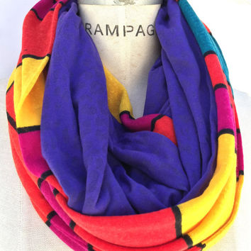 Colorblock color block infinity scarf scarfs, womens scarves,  top selling shops items, winter scarf, colorful fall finds best  gift ideas