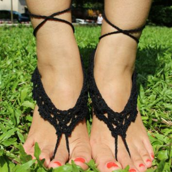 Cotton Handmade Crocheted Anklets B007684