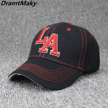 Trendy Winter Jacket New Embroidery Letter LA Baseball Cap Men Women Snapback Cap Hat Female Male Hip Hop Bone Cap Brand Fashion Street Adjustable AT_92_12