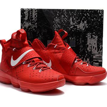 HCXX Nike Air Zoom Men's Lebron 14 Basketball Shoes All Red 40-46