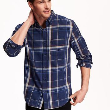 Old Navy Mens Slim Fit Plaid Shirt