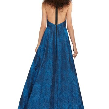 alice + olivia | TEIFER LEATHER T-BACK GOWN