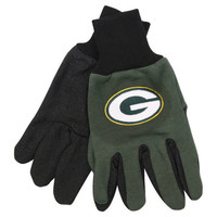 Green Bay Packers NFL Utility Team Logo Gloves