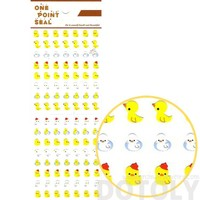 Yellow Rubber Ducky Animal Sticker Envelope Seal for Scrapbooking and Decorating