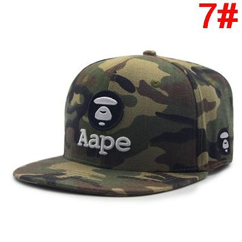 Bape Aape Fashion New Embroidery Letter Sunscreen Travel Leisure Women Men Cap Hat 7#