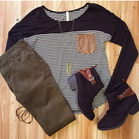 Avery Love Stripe Top